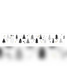 Masking tape | zwart-wit kerstbomen