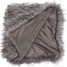Plaid Fur Grey Flufy  / 130x170cm / LIL