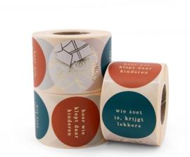 Sticker sluitzegel mix - Where is Sinterklaas   50mm   12stk