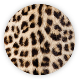 Sticker rond panter print - 10 stk