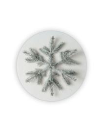 Sticker rond wit - ster dennentak   35mm   10stk