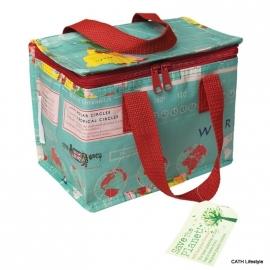 Lunchbag - koeltasje / wereldkaart