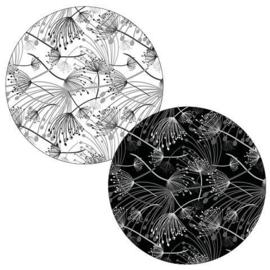 Sticker sluitzegel | zwart wit - Berenklauw | 20stk