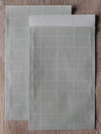 Vlakke Zakjes / Tall grids / Sage Green / 5 stk