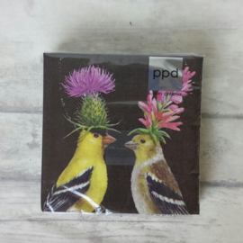 Servetten / Goldfinch Couple / 23x25cm