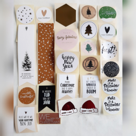 Sticker sluitzegel mix Kerst | 40stk