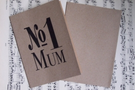 Kaart met envelop / No. 1 Mum / EI