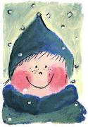 Ansichtkaart - winter kind