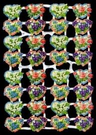 ME 7132 Poezie plaatjes hartjes met bloemen