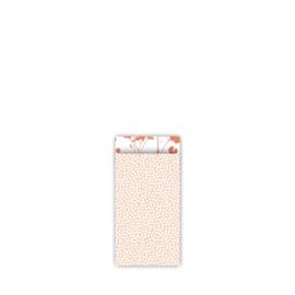 Kado zakjes klein | spring cubes peach roest | 7x13cm | 5stk