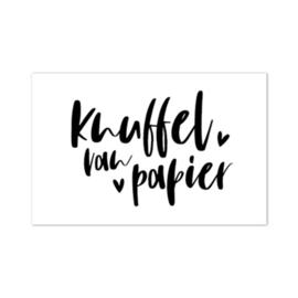 Cadeau kaartje /label - Knuffel van papier | pstk