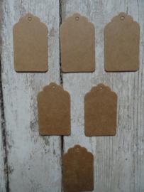 Label / Tag kraft 5x3 cm / 20 stks