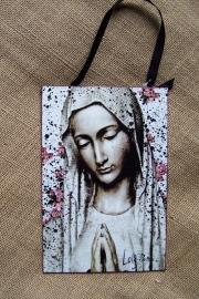 CE Metaal schilderijtje Madonna