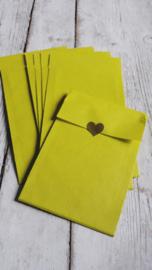 Kraft zakjes | lemon | 7,5 x 13cm | 10stk