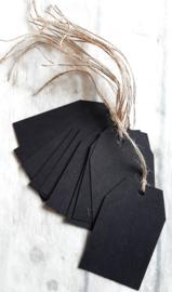 Label - papier zwart - 10stk