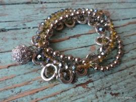 BIBA Armband / crystal met hanger