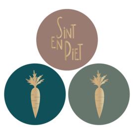 Sticker sluitzegel sinterklaas | wortel - Sint en Piet - 9stk