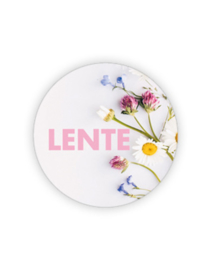 Sticker rond - Lente / bloemen | 35mm | 10stk