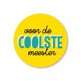 Sticker / Voor de coolste meester / pstk