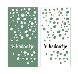 Label wit mint spots | 'n kadootje | 5 stk