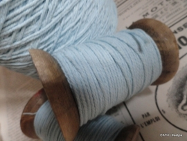 Houten klos met katoen koord blue / 20m