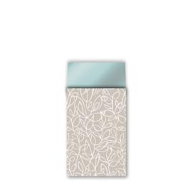 Zakje fine fleur - zand wit petrol - 12x19cm - 5 stuks