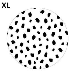 Sticker rond | 101 dots - wit/zwart | 65mm | 5stk
