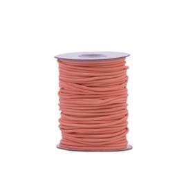 Elastisch koord peachy pink | 3mm | 5m