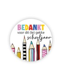 Sticker - Bedankt voor dit te gekke schooljaar | 35mm | 10stk