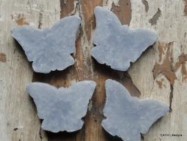 Zeep vlinder grijs 40gram