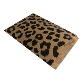 Cadeau zakjes kraft - luipaard  - 13,5x18cm - 5stk