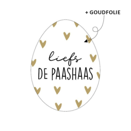 Sticker - Liefs de Paashaas | 10stk