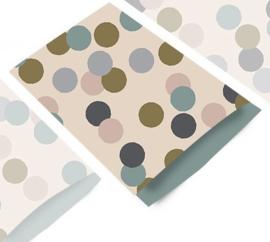 Zakjes | big confetti beige | 12x19cm | 5stk