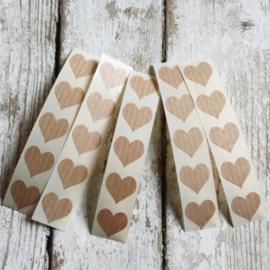 Stickers mini hart | kraft | 25 stk