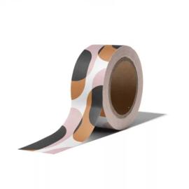 Washi tape - retro shapes warm | 10m