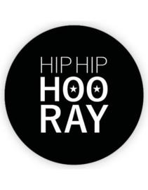 Sticker sluitzegel XL Hip Hip Hooray | 65mm | 5stk