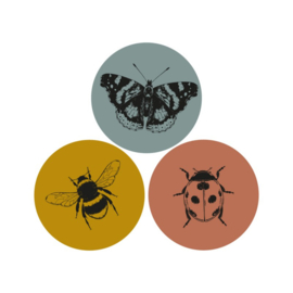 Stickers - sluitzegels | insecten nature | 15 stk