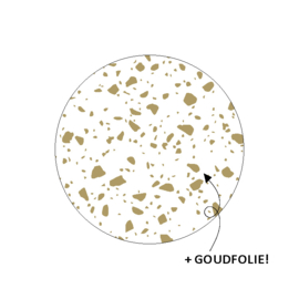 Stickers - rond - gespikkeld - wit goud - 20 stks