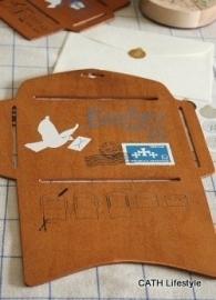 Enveloppen mal / hout / standaard model