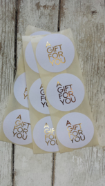 "Stickers - ""A gift for you""wit / 20 stk"