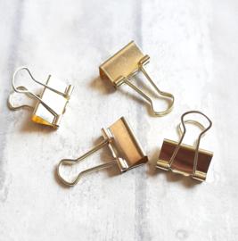 Foldback klem  / goud  / 2cm / pstk