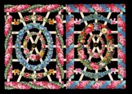 ME 7352 Poezie plaatjes bloemen kaders