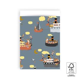 Zakjes Sint - pakjesboot | 17x25cm | 5stk
