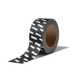Washi Tape - OPEN SPACES | zwart wit | 10m