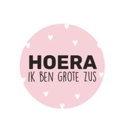 Sticker sluitzegel | hoera ik ben grote zus | 15stk
