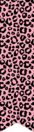 Sticker vaantje | roze panter  / 10stk
