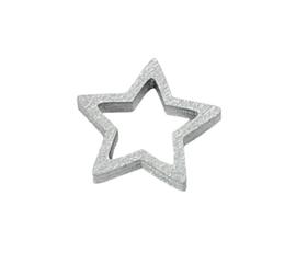 Decoratieve houten ster | zilver | 5stk