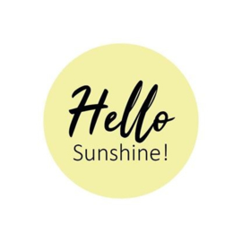 Sticker  - sluitzegels / hello Sunshine  / 15stk
