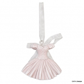 Hanger decoratief roze jurkje