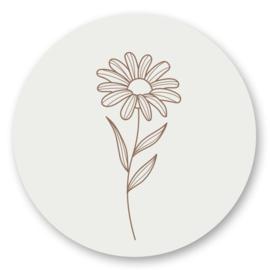 Sticker sluitzegel - Flower | 45mm | 10stk